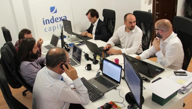 Parte del equipo Indexa en nuestra oficina, noviembre 2016